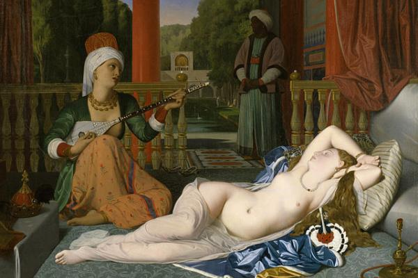 image of the painting Odalisque with Slave, by Ingres, Acquired by Henry Walters, 1925, Wikimedia Commons